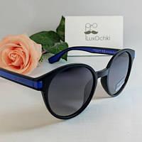 Стильные солнцезащитные круглые очки Ted Browne в пластиковой оправе поляризованные