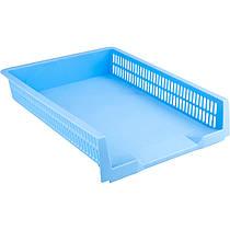 Лоток для паперу горизонтальний пластиковий Axent Pastelini блакитний