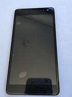 Оригинальный дисплей (модуль) + тачскрин (сенсор) с рамкой для Microsoft Lumia 535 (CT2C1607FPC-A1-E)