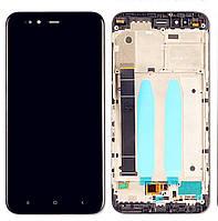 Дисплейный модуль Xiaomi Mi A1 with touch screen and frame black original Китай