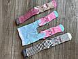 Дитячі демісезонні колготки BROSS асорті кольорів з зайчиками бавовна розмір 0-6 місяців, фото 5