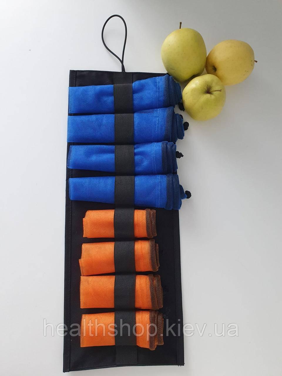 Багаторазові мішечки для продуктів, овочів і фруктів, еко мішечки, сіточки для продуктів 8 шт (+ органайзер)