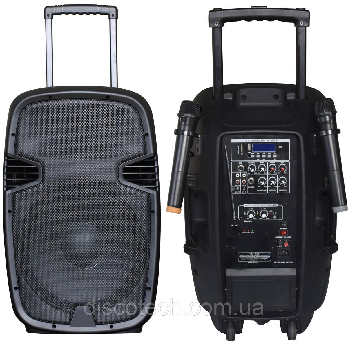 JB12RECHARGE350+MP3/Bluetooth+20V INVERTER+2pcs VHF mic