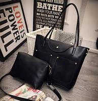 Женская сумка большая на плечо повседневнная +  сумка через плечо в наборе