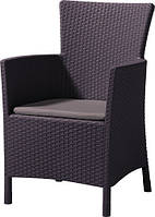 Кресло плетенное для сада и дачи Нидерланды 62x60x89 см. ротанг искусственный 590484
