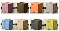 Пуф с ящиком внутри ,пуфик,пуфики,пуф ткань, пуф рогошка ,банкетка,банкетки,пуф куб,пуф, фото 9