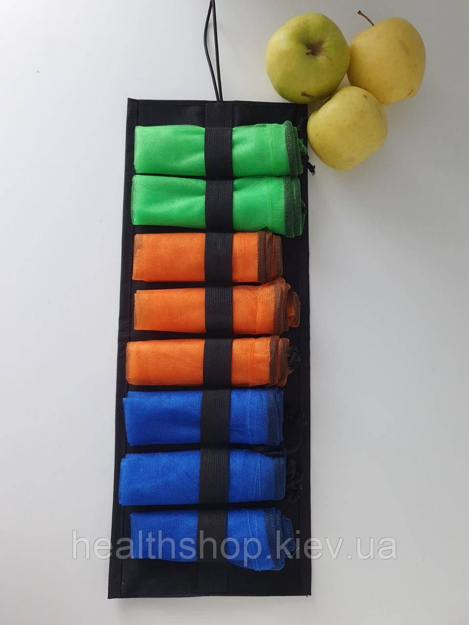 Многоразовые мешочки для продуктов XL, эко мешочки, сетки для овощей и фруктов 8 шт. (+ органайзер)