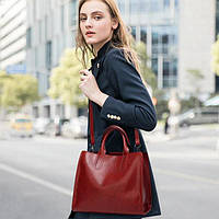 Жіноча сумка червона davones, фото 1