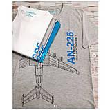 Футболка пилота AN-225, цвет: серый меланж, AVIAMERCH™, фото 3