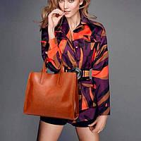 Жіноча сумка davones коричнева, фото 1