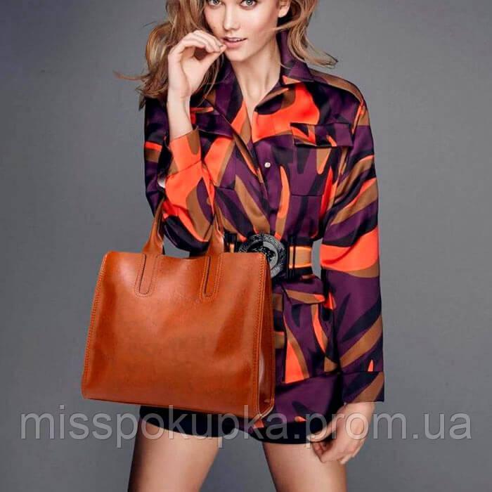 Жіноча сумка davones коричнева