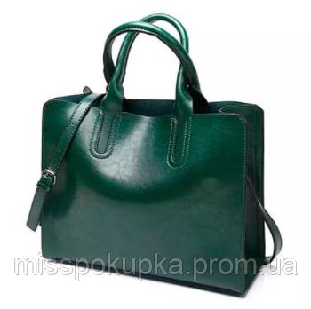 Женская сумка davones зеленая