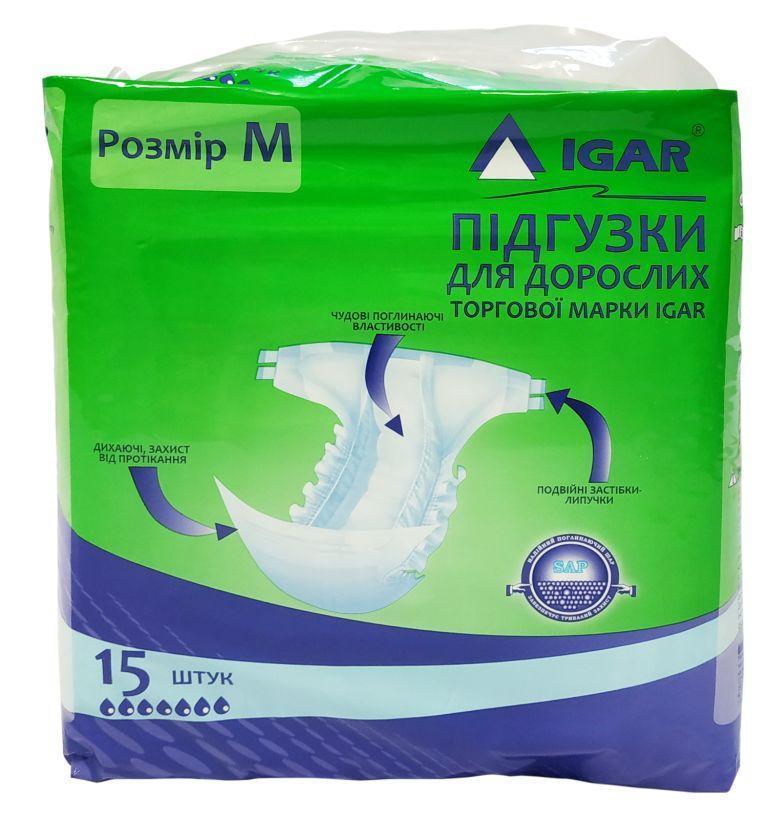 Подгузники для взрослых размер М 15шт