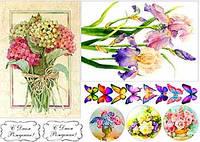 "Вафельная картинка ""Цветы. Винтаж -1"""