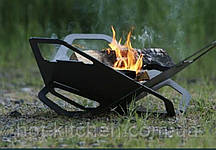 Мангал-Гриль Fire Flower 637*590 чорний мет 2мм