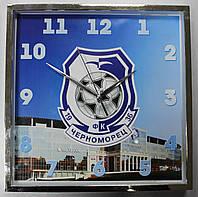 Часы настенные с символикой  ФК Черноморец