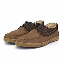 Топсайдеры мужские летние коричневые мокасины нубук обувь повседневная Rosso Avangard TopS Cappuc Brown Nub