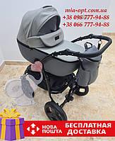 Детская коляска 2 в 1 Classik (Классик) Victoria Gold эко кожа