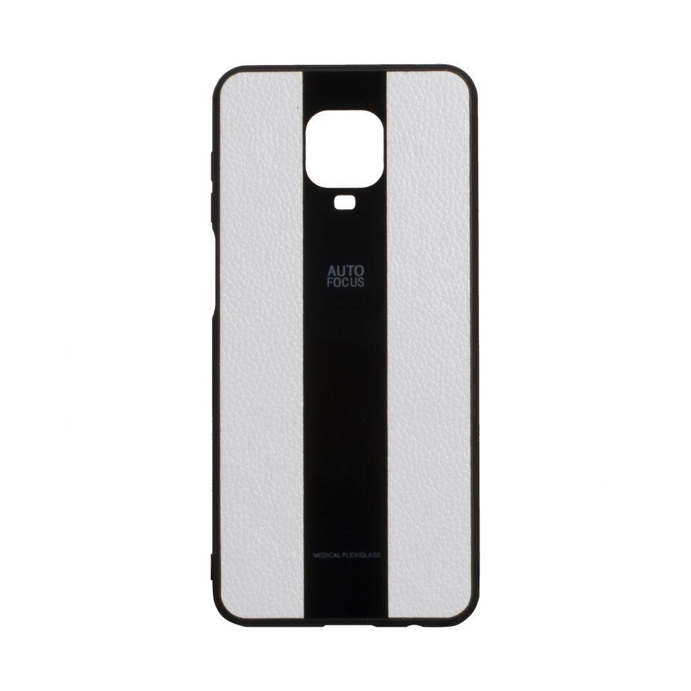Чехол для Xiaomi Redmi Note 9s / Pro / Max белый  Combi Leather / Чехол для Ксяоми Сяоми Ксиоми ноут 9