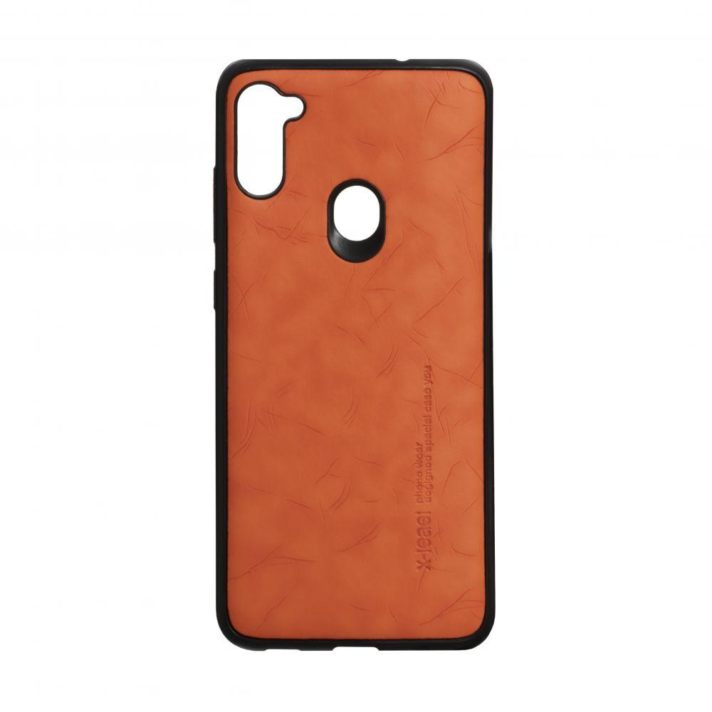 Чехол для SAMSUNG A11 / M11 оранжевый Leael Color /  Чехол для САМСУНГ a11