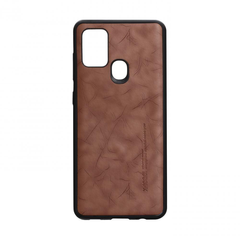Чохол для  SAMSUNG A21s коричневий Leael Color / Чохол для  САМСУНГ а21s