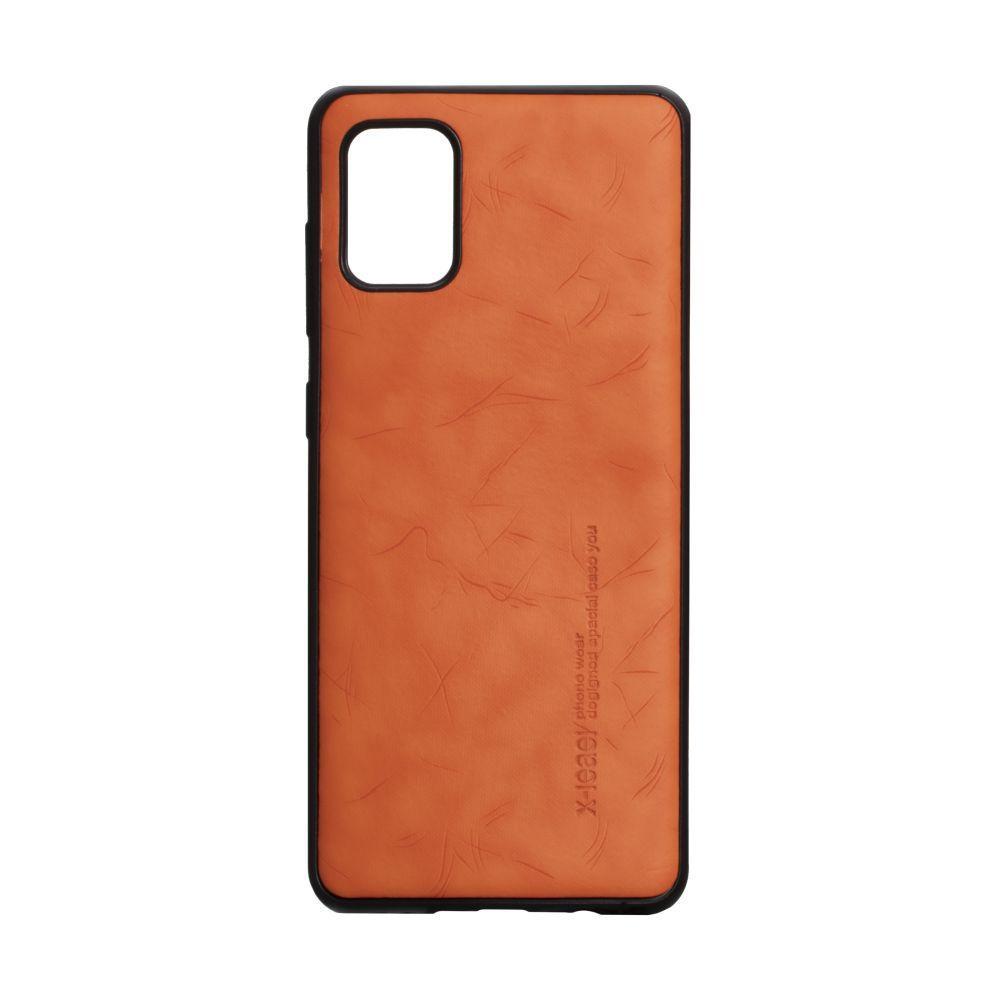 Чехол для SAMSUNG A31 оранжевый Leael Color /  Чехол для САМСУНГ a31