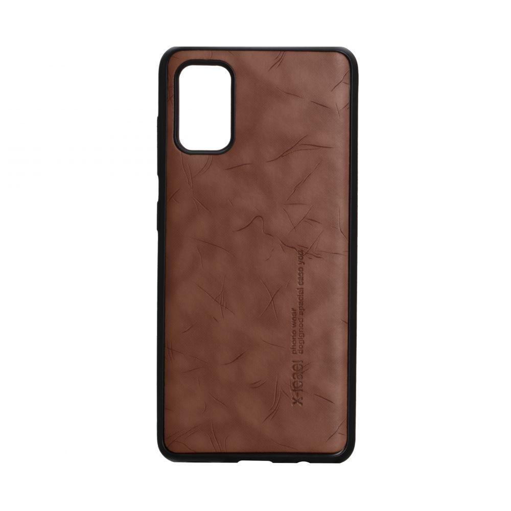 Чехол для SAMSUNG A41 коричневый Leael Color / Чехол для САМСУНГ a41