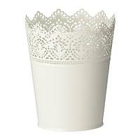 """IKEA """"СКУРАР"""" Кашпо, белый с оттенком, 12 см"""