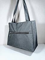 Женская тканевая сумка серая