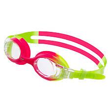 Очки для плавания детские ARENA X-LITE KIDS AR-92377 (поликарбонат, термопластичная резина, силикон, цвета в