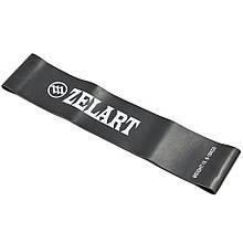 Лента сопротивления LOOP BANDS Zelart FI-8228-5 (латекс, размер 500x50,8x1,1мм, жесткость L, черный)