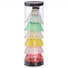 Воланы для бадминтона пластиковые (6шт) в пластиковом тубе BD-2114-6 (разноцветный)