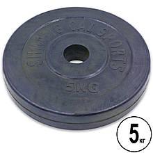 Блины (диски) обрезиненные d-30мм Shuang Cai Sports ТА-1443 5кг (металл, резина, черный)