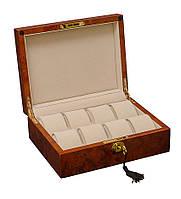 Качественная деревянная шкатулка для часов на 8 отделений Rothenschild RS803-8-DB