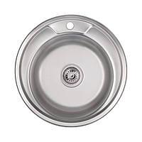 Кухонна мийка Lidz 490-A Polish 0,8 мм (LIDZ490APOL)