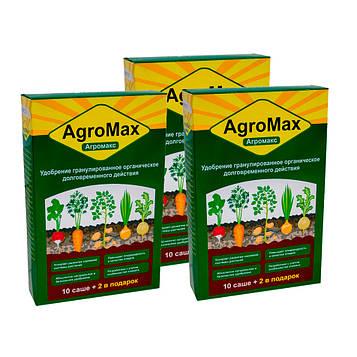 Агромакс добриво (Agromax)| Комплект 3 уп./12 саше| Препарат для поливу картоплі та інших рослин (добриво)