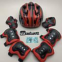 Фірмовий комплект захисту, шолом Maraton+ наколінники, налокітники, рукавички, фото 3