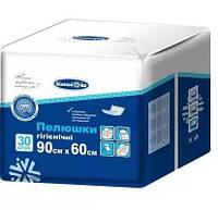 Пеленка гигиеническая универсальная ТМ «Белоснежка», размер 90 см. x 60 см., упаковка - 30 шт.