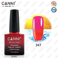 Термо гель-лак Canni №347 (красный - малиновый)  7,3 мл