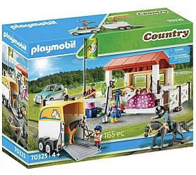 Playmobil 70325 Конная ферма и автомобиль с прицепом Country Horse Farm with Trailer