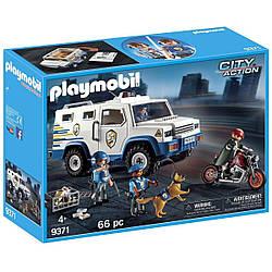 Playmobil 9371 Полицейская инкассаторская машина Погоня за грабителем Police Money Transporter