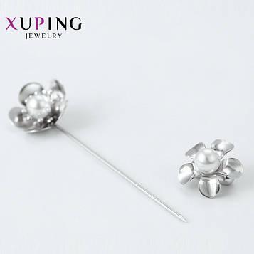 XUPING Булавка Родій квіточки з перлами Довжина 7см
