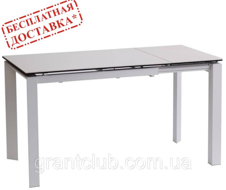 Стол BRIGHT PURE WHITE 102/142-70 белый керамика (бесплатная доставка)