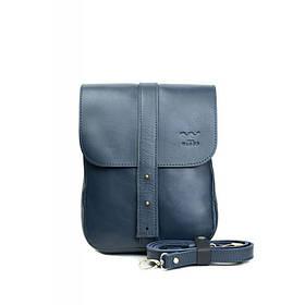 Чоловіча шкіряна сумка Mini Bag синя