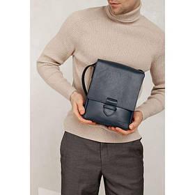 Мужская кожаная сумка-мессенджер Esquire синяя