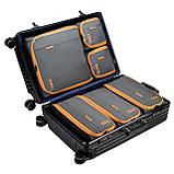 Набор органайзеров для путешествий Bagsmart Серый с оранжевым (FBBM0104087AN008BS), фото 3