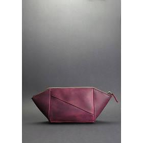 Жіноча шкіряна сумочка бордова Crazy Horse