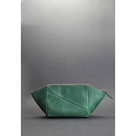 Жіноча шкіряна сумочка зелена Crazy Horse