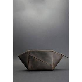 Жіноча шкіряна сумочка темно-коричнева