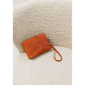 Шкіряна сумочка-несесер 3.1 Світло-коричнева Crazy Horse